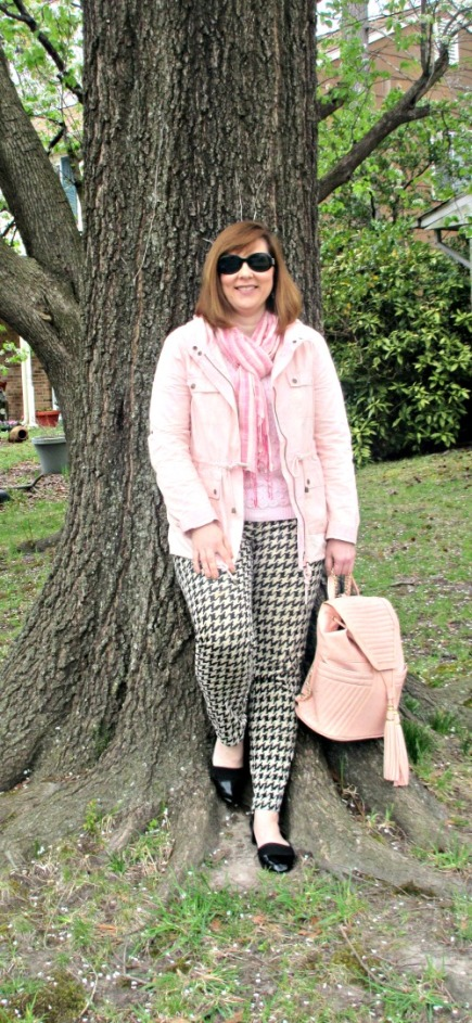pink & houndstooth
